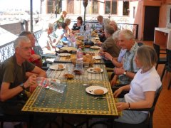 Lunch time during our city tour of Marrakesh.jpg